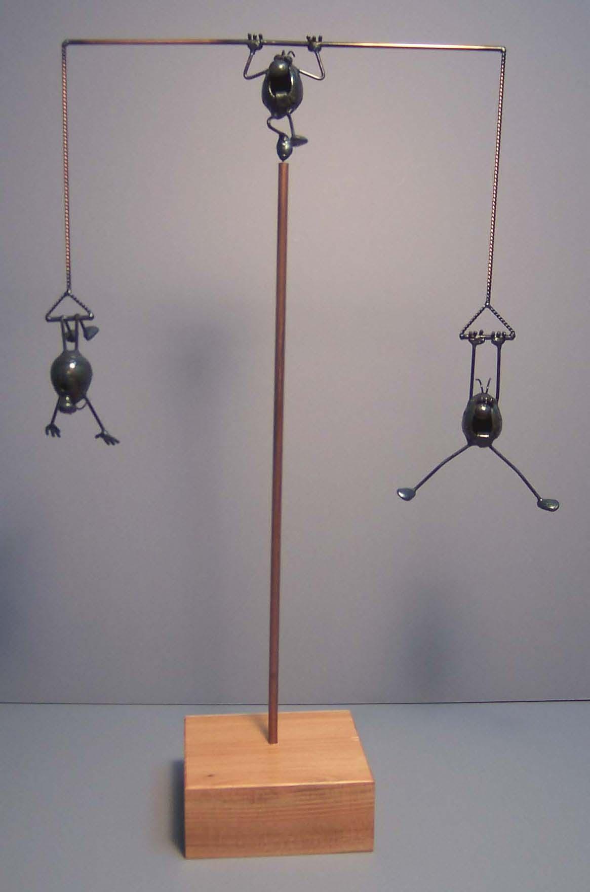 Balancing scene, 3 flea