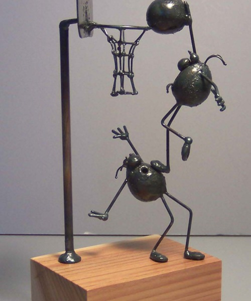 Basketball scene, 2 flea