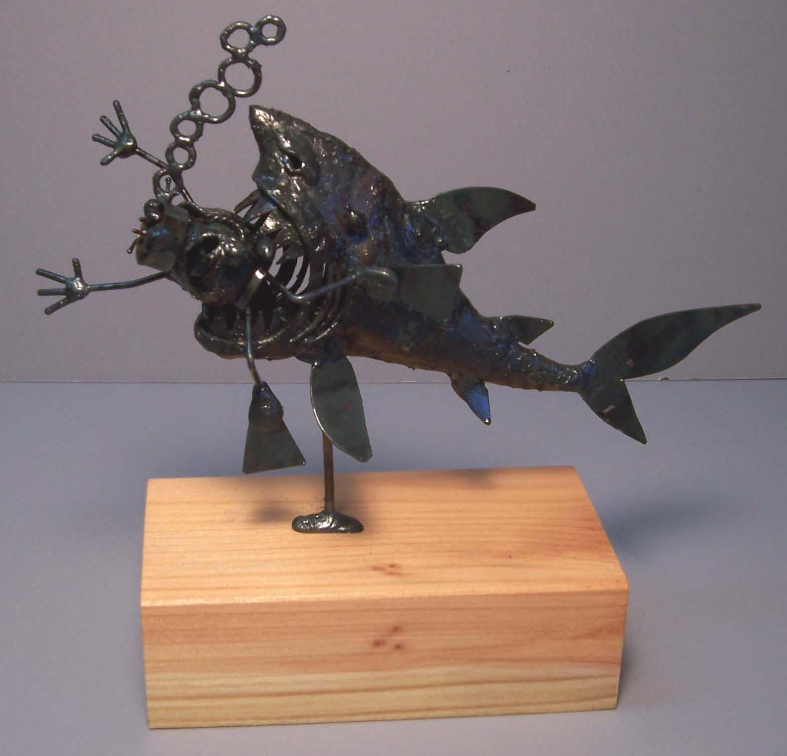 Scuba diver, eaten by shark