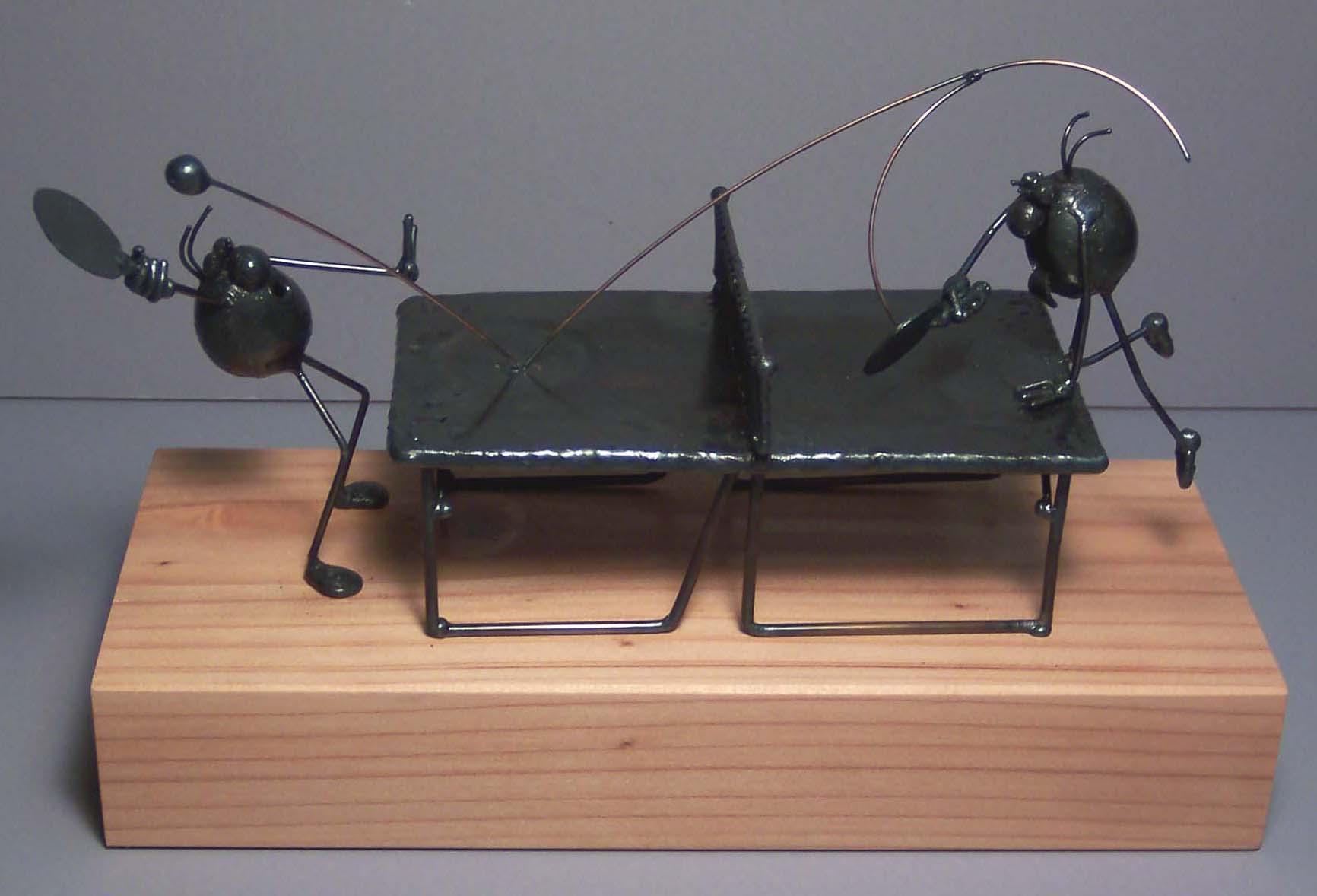Ping pong scene, 2 flea