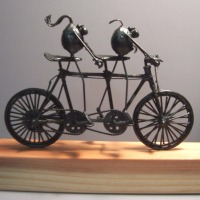 Tandem bicycle, 2 flea