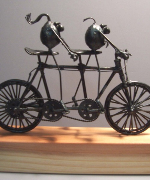 Tandem bicycle, 2 flea