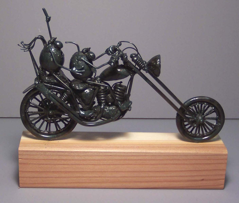 Chopper motorcycle, 2 flea