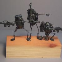 Soldier scene, 3 flea